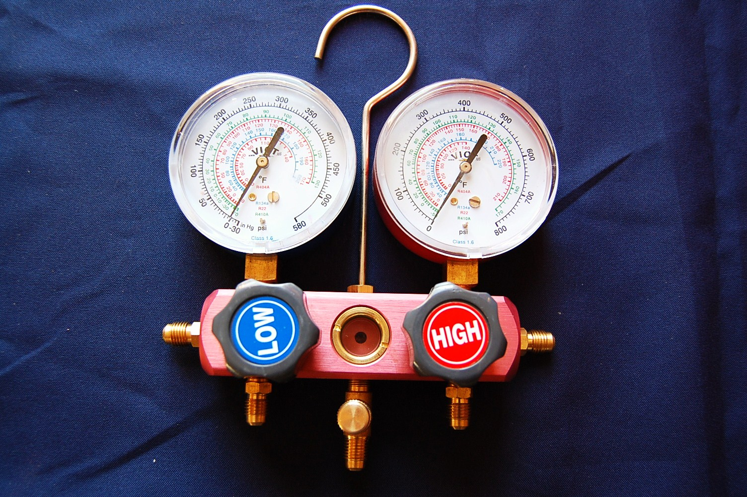 how to read ac gauges for 410a
