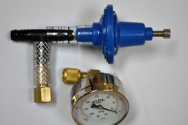 Vacuum Regulator+Gauge Tee Adapter Pulsator Surge Devanal Milker For Cow//Goat bt