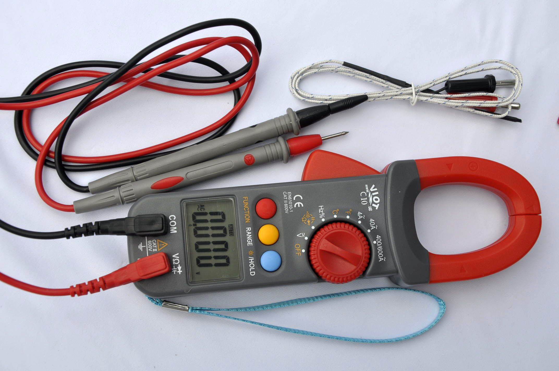 Details about Digital Clamp Meter Ammeter Multimeter DMM+Capacitor Tester+K  Thermocouple HVAC