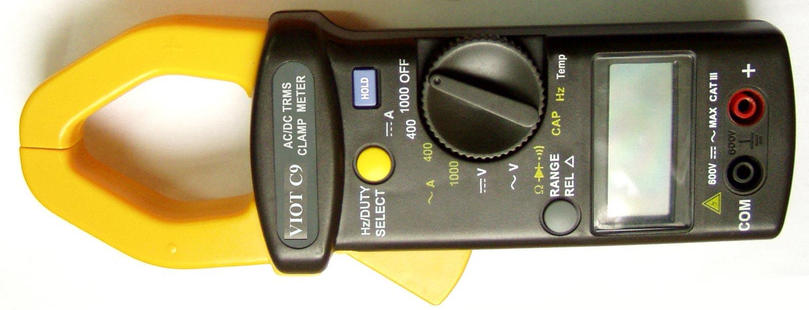 ACDC True RMS Clamp Meter Ammeter Multimeter WCapacitor Tester - Us zip code type