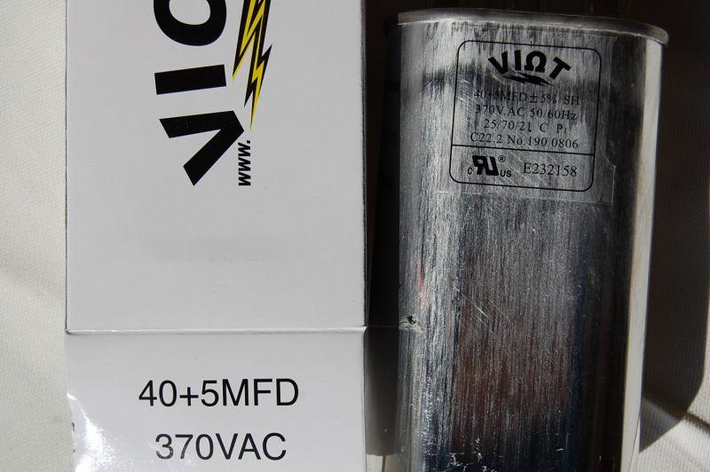 Dual Size Cap40a5 40 Ufd 5 Ufd Motor Start Run