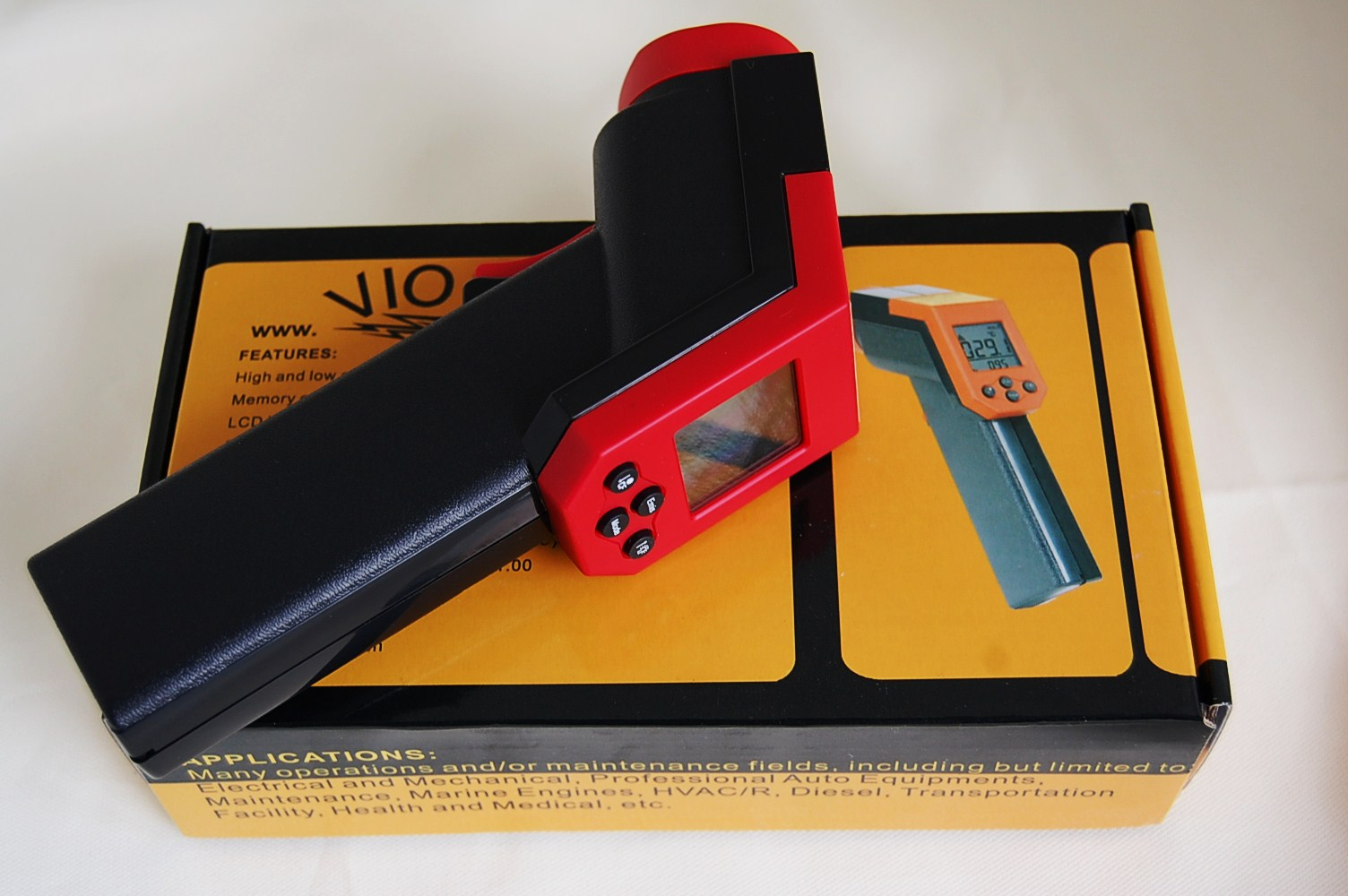 #B8131A No Touch Infrared Digital Thermometer Technician HVAC  Best 6793 Tools Needed For Hvac Technician photos with 1504x1000 px on helpvideos.info - Air Conditioners, Air Coolers and more