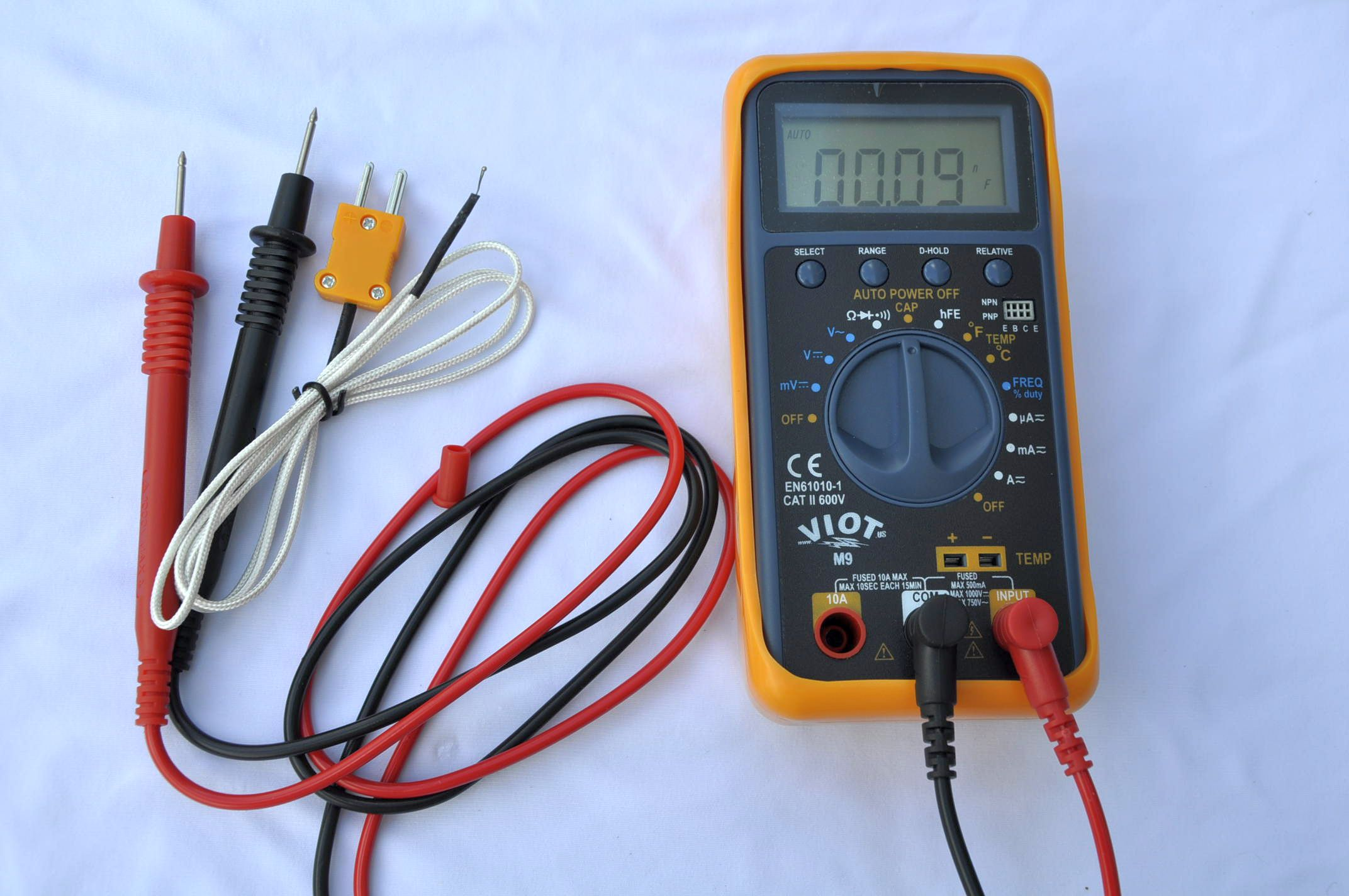 Professional Hvac Toolac Dc Digital Multimeter Dmm With Capacitor Test In Circuit Tester To 100uf Type K Thermocouple Heavy Duty Leads Holster Free Shipping
